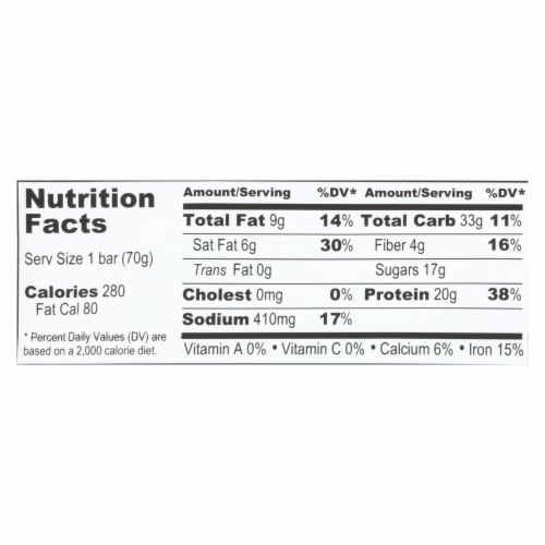 Probar Organic Mint Chocolate Core Bar - Case of 12 - 2.46 oz Perspective: back