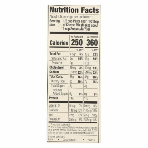 Good Citizens Organic Macaroni & Cheese Dinner - Case of 12 - 6 OZ Perspective: back