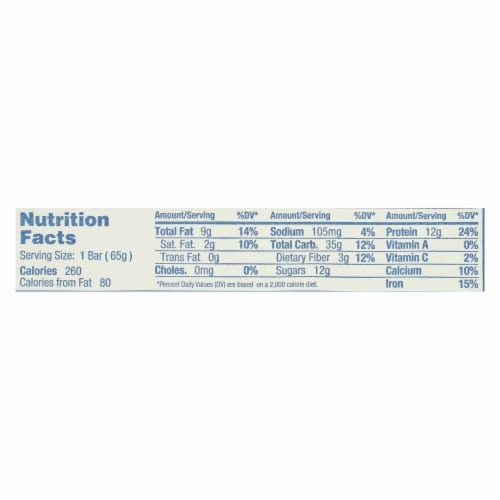 Gomacro - Bars Oatmeal Cchip - Case of 12 - 2.3 OZ Perspective: back