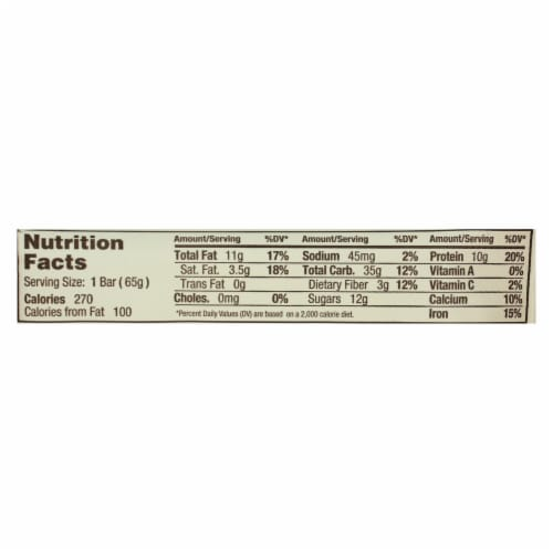 Gomacro Organic Macrobar - Coconut Almond Butter and Chocolate Chips - Case of 12 - 2.3 oz. Perspective: back