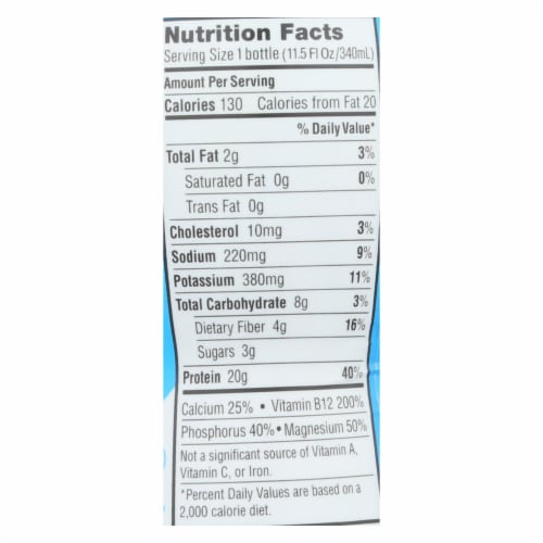Iconic Protein Shake - Caf? Au Lait - Case of 12 - 11.5 Fl oz. Perspective: back