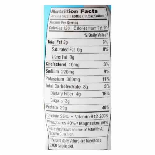 Iconic Protein Shake - Vanilla Bean - Case of 12 - 11.5 Fl oz. Perspective: back