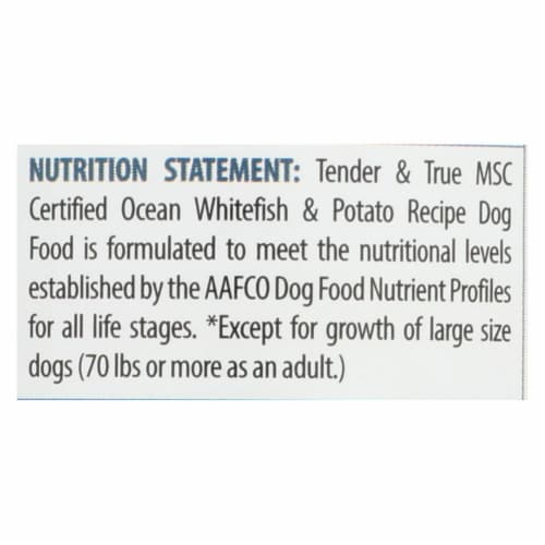 Tender & True Dog Food, Ocean Whitefish And Potato - Case of 12 - 13.2 OZ Perspective: back