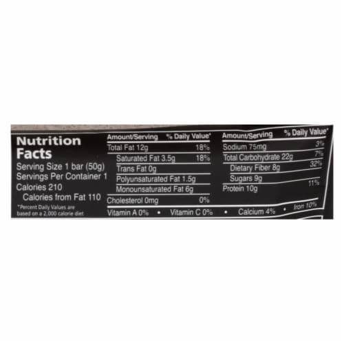 Zing Bars - Nutrition Bar - Dark Chocolate Hazelnut - 1.76 oz Bars - Case of 12 Perspective: back