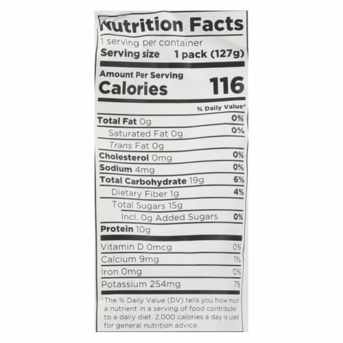 Fuel For Fire Fruit + Protein Fuel Pack - Case of 12 - 4.5 OZ Perspective: back