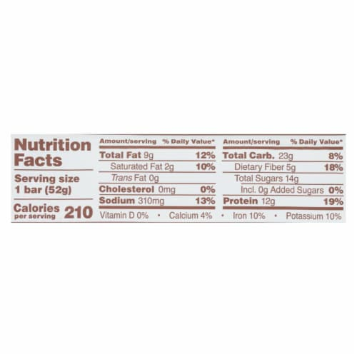 RxBar - Protein Bar - Chocolate Peanut Butter - Case of 12 - 1.83 oz. Perspective: back