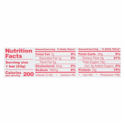 Rxbar - Kids Protein Bar - Peanut Butter Berries - Case of 12 - 1.83 oz. Perspective: back