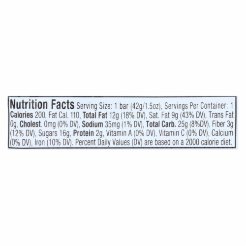 Ocho Candy - Candy Bar Coconut - Case of 12-1.5 OZ Perspective: back
