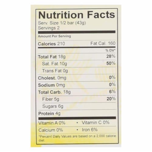 Theo Chocolate Black Rice Quinoa Crunch - 85 Percent Dark Chocolate - Case of 12 - 3 oz. Perspective: back