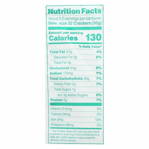 Crunchmaster Protein Crackers - Sea Salt - Case of 12 - 3.54 oz Perspective: back