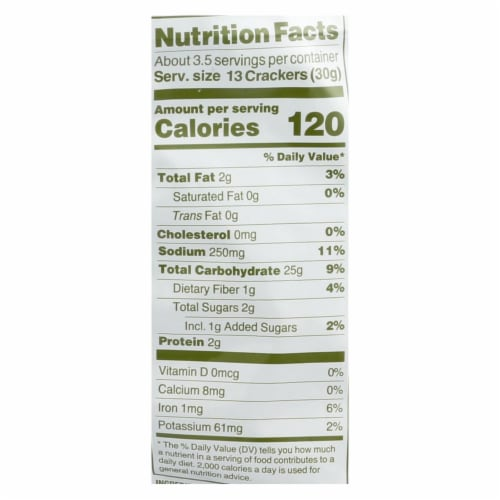 Crunchmaster Crackers - Tuscan Peasant Garlic and Italian Herb - Case of 12 - 3.54 oz. Perspective: back