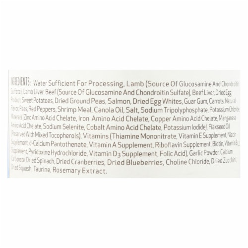 Dogs well Happy Hips Lamb and Sweet Potato Stew Dog Food - Case of 12 - 13 oz. Perspective: back