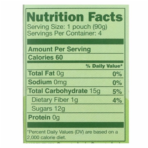GoGo Squeeze Sauce - Apple - Case of 12 - 3.2 oz. Perspective: back