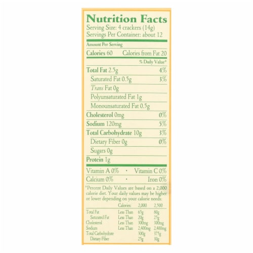 Late July Snacks Organic Round Saltine Crackers - Classic - Case of 12 - 6 oz. Perspective: back