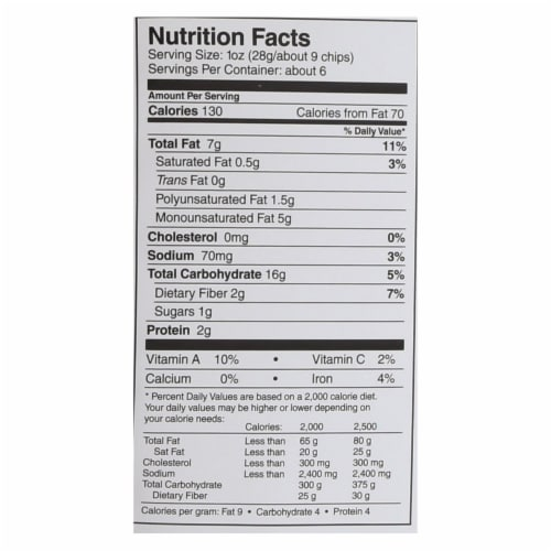 Late July Snacks Snack Chips - How Sweet Potato It Is - Case of 12 - 5.5 oz. Perspective: back