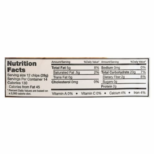 Donkey Chips Tortilla Chips - Unsalted - Case of 12 - 14 oz. Perspective: back