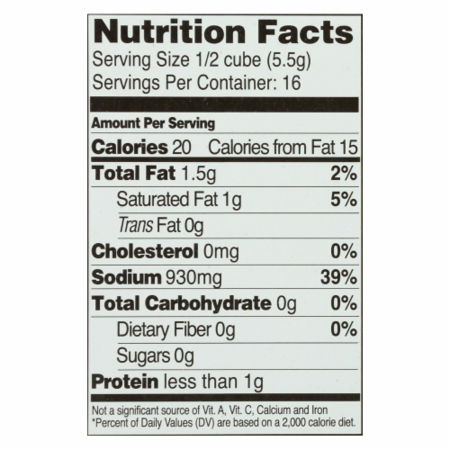 Edwards and Sons Natural Bouillon Cubes - Not Beef - 3.1 oz - Case of 12 Perspective: back