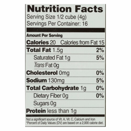 Edwards and Sons Natural Bouillon Cubes - Veggie - Low Sodium - 2.2 oz - Case of 12 Perspective: back