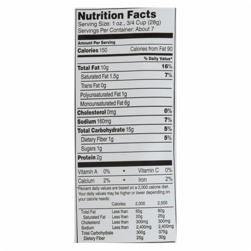 Barbara's Bakery - Baked Cheese Puffs - Original - Case of 12 - 7 oz. Perspective: back