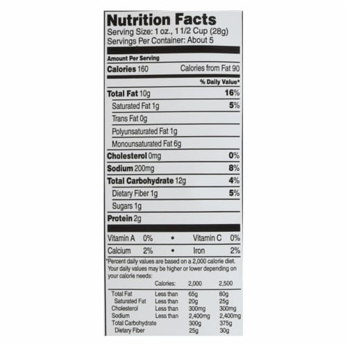 Barbara's Bakery - Baked White Cheddar Cheese Puffs - Case of 12 - 5.5 oz. Perspective: back