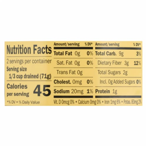 Reese Water Chestnuts - Diced - Case of 24 - 8 oz Perspective: back