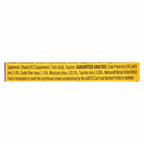 Wellness Pet Products Cat Food - Chicken Entr?e - Case of 24 - 3 oz. Perspective: back