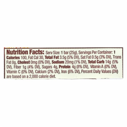 Gomacro Bars - Organic - Gluten Free - Sunflower Butter - Ch - Case of 24 - .9 oz Perspective: back