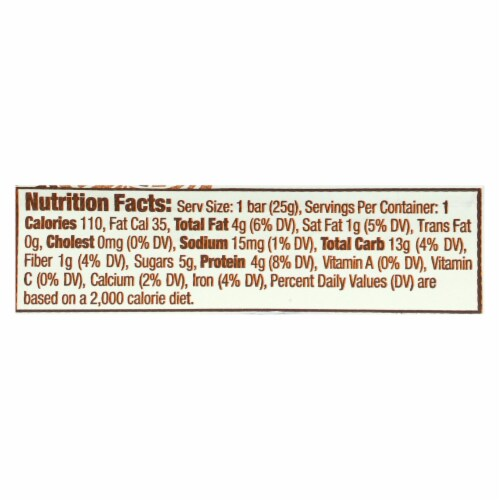 Gomacro Bar - Peanut Butter Chocolate Chip - Case of 24 - .9 oz Perspective: back