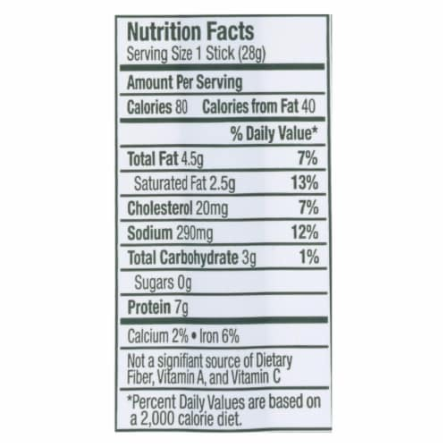 Vermont Smoke And Cure - Beef Sticks Jalap Lime - Case of 24 - 1 OZ Perspective: back