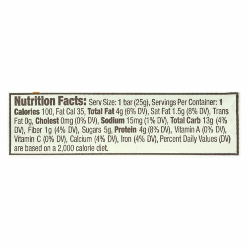 Gomacro Coconut & Almond Butter & Chocolate Chips Macrobar Minis  - Case of 24 - .9 OZ Perspective: back