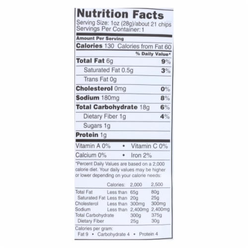 The Daily Crave Veggie Chips - Case of 24 - 1 oz. Perspective: back