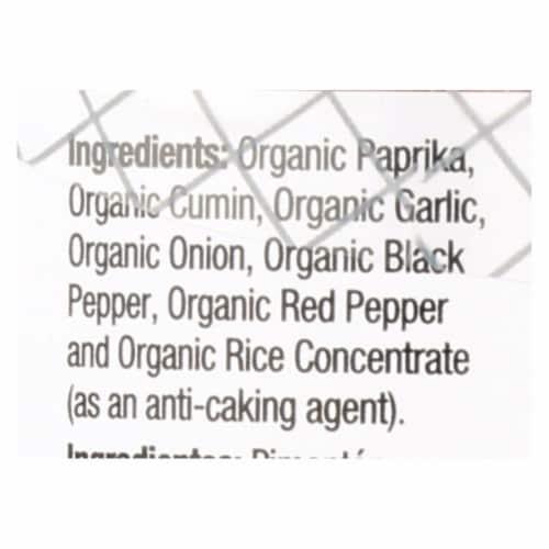 Badia Organic Chili Powder  - Case of 8 - 2 OZ Perspective: back