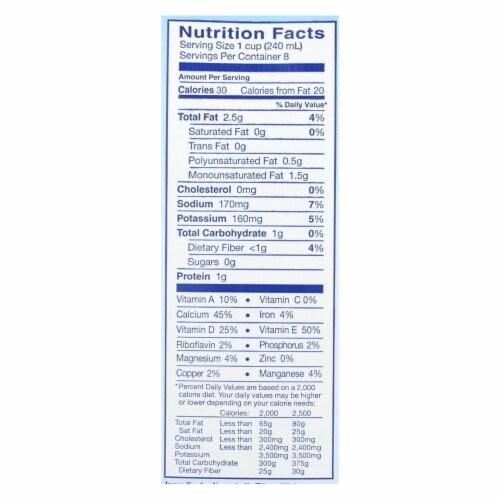 Almond Breeze - Almond Milk - Unsweetened Original - Case of 8 - 64 fl oz. Perspective: back