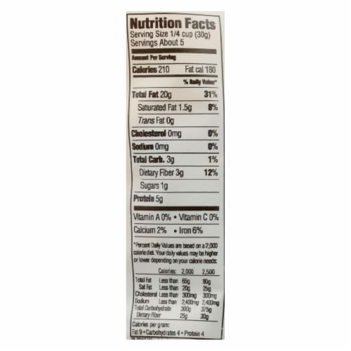 Woodstock Organic Walnuts Halves and Pieces - Case of 8 - 5.5 OZ Perspective: back