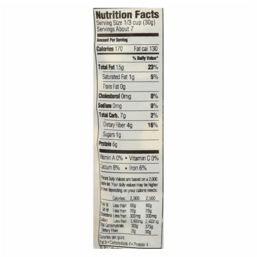 Woodstock Non-GMO Thick Sliced Almonds, Unsalted - Case of 8 - 7.5 OZ Perspective: back