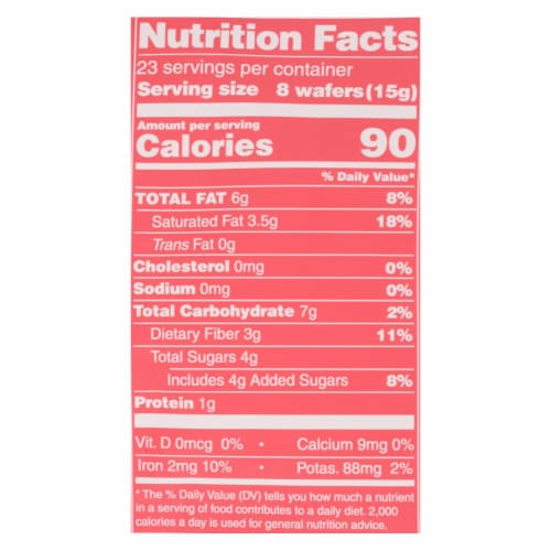 Guittard Chocolate Baking Wafers - Organic - 74% Bittersweet - Case of 8 - 12 oz Perspective: back
