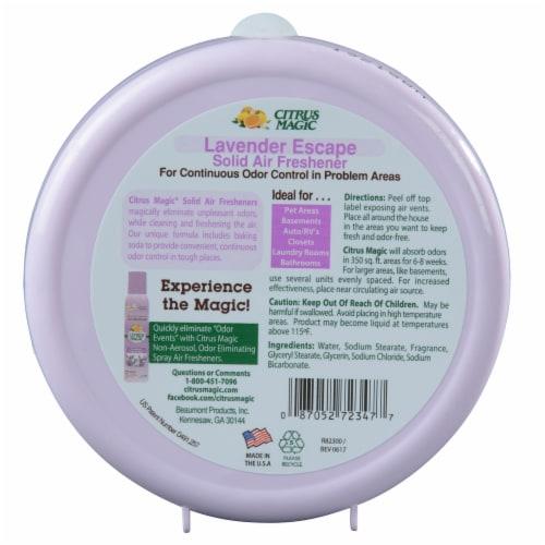 Citrus Magic Air Freshener - Odor Absorbing - Solid - Lavender - 8 oz Perspective: back