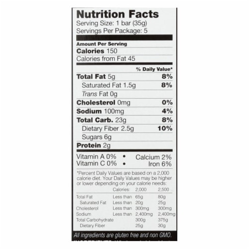 Kind Bar - Granola - Oats and Honey with Toasted Coconut - 1.2 oz - 5 Count - Case of 8 Perspective: back