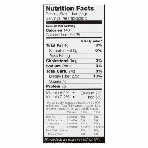 Kind Bar - Granola - Healthy Grains - Vanilla Blueberry - 1.2 oz - 5 Count - Case of 8 Perspective: back