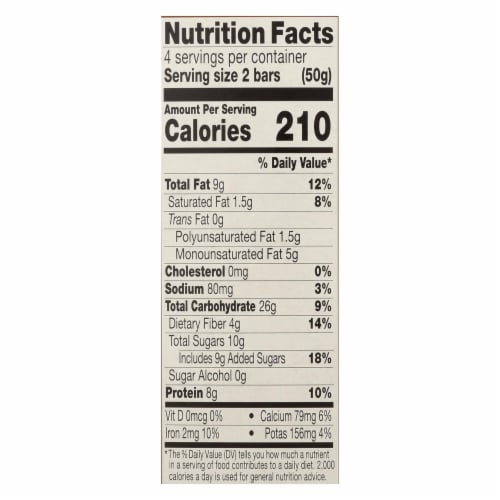 Kind Breakfast Protein Bars - Dark Chocolate Cocoa - Case of 8 - 4/1.76oz Perspective: back