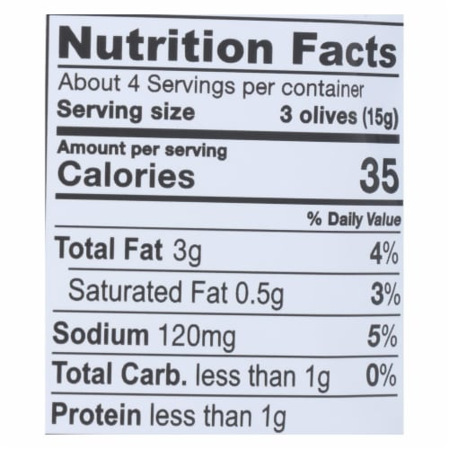 Gaea Organic Olive Snack - Kalamata - Case of 8 - 2.3 oz Perspective: back
