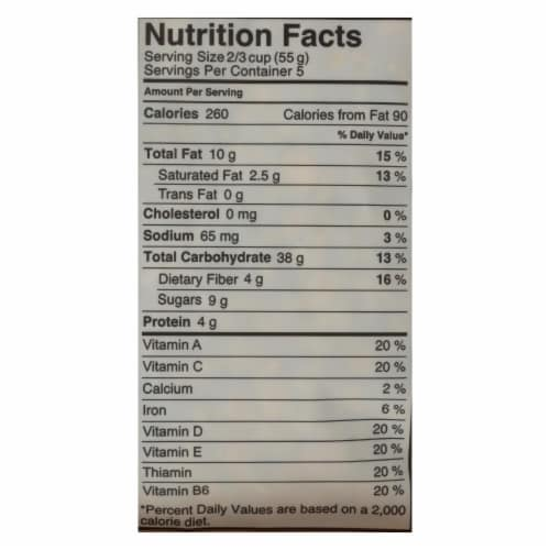 Made Good Crispy Light Granola Cereal - Case of 8 - 10.0 OZ Perspective: back