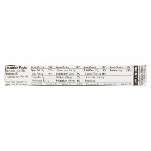 Clif Bar Whey Protein Bar - Salted Caramel Cashew - Case of 8 - 1.98 oz Perspective: back