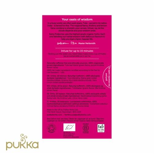 Pukka Tulsi Clarity Herbal Organic Tea Perspective: back