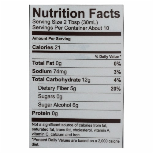 Lakanto Monk Fruit Sweetened Maple Flavored Syrup  - Case of 8 - 13 FZ Perspective: back