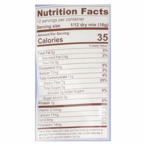 Lakanto - Muffin Mix Blueberry - Case of 8-6.77 OZ Perspective: back