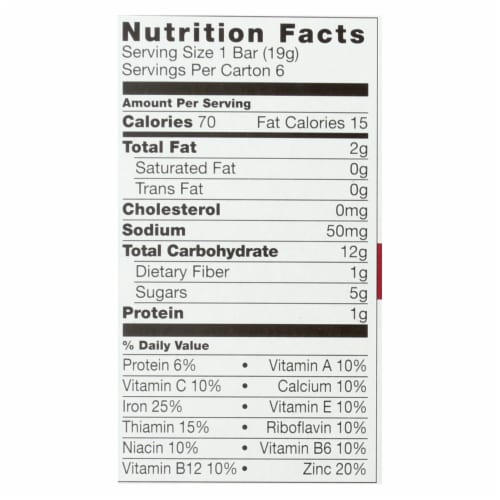 Plum Organics Plum Tots Bars Tots Snacks Strawberry Spinach - Case of 8 - 6/.67 OZ Perspective: back
