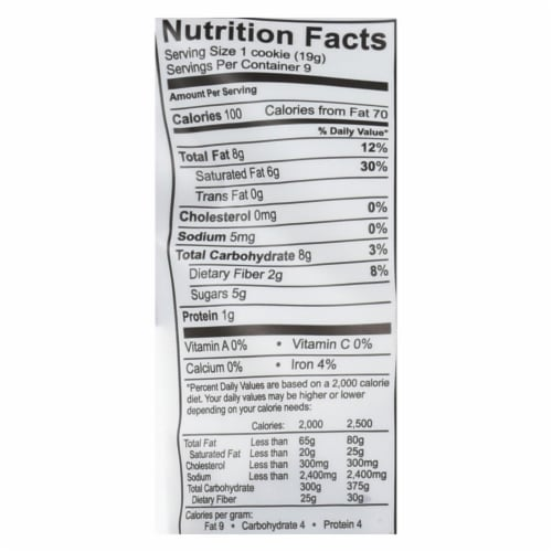 Emmy's Organics  Organic Coconut - Case of 8 - 6 oz. Perspective: back