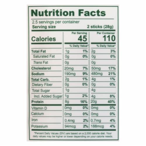 The New Primal Snack Mates Turkey Sticks  - Case of 8 - 2.5 OZ Perspective: back