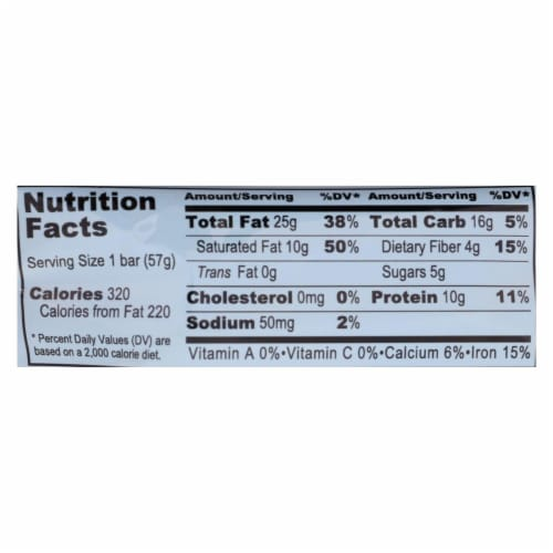 Pro Bar Coconut Cashew P.O.P. Nutritional Bar  - Case of 8 - 2.00 OZ Perspective: back